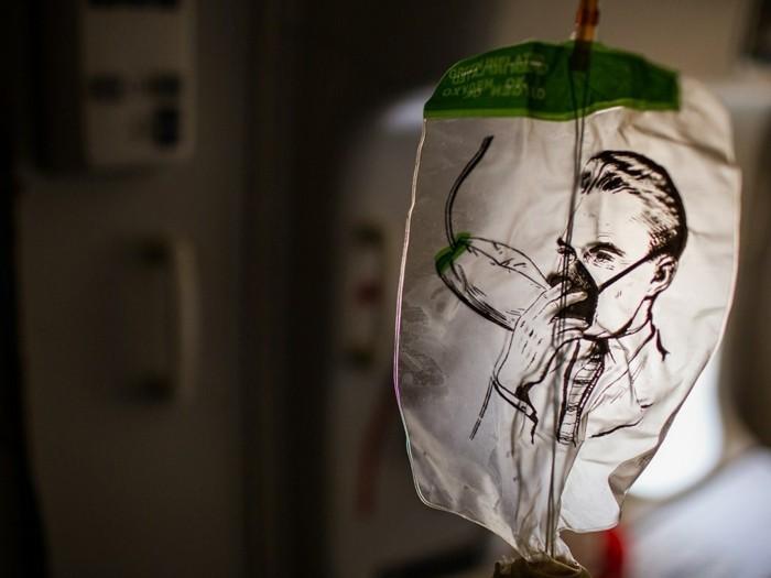 sauerstoffmaske flugzeuginformation