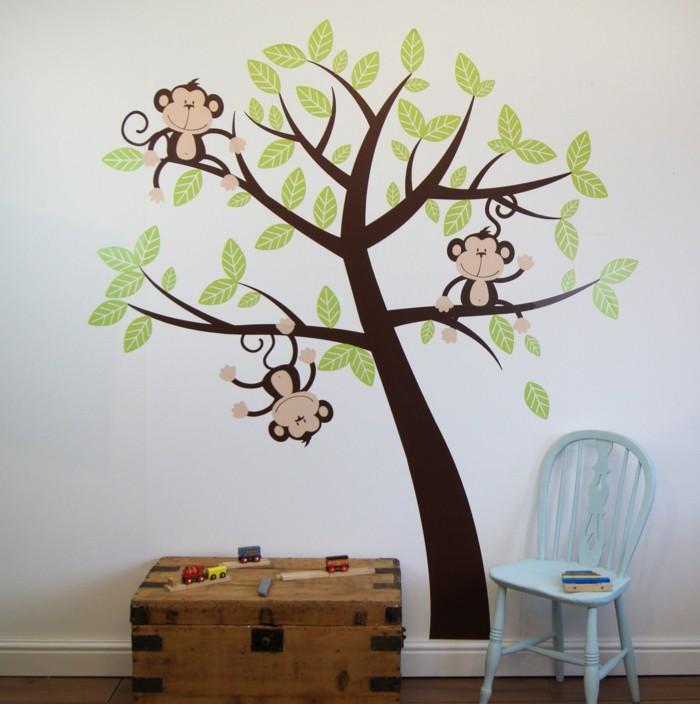 Kinderzimmer wand ideen baum  35 Wandtattoos Baum, die einen Hauch Natur nach Hause bringen