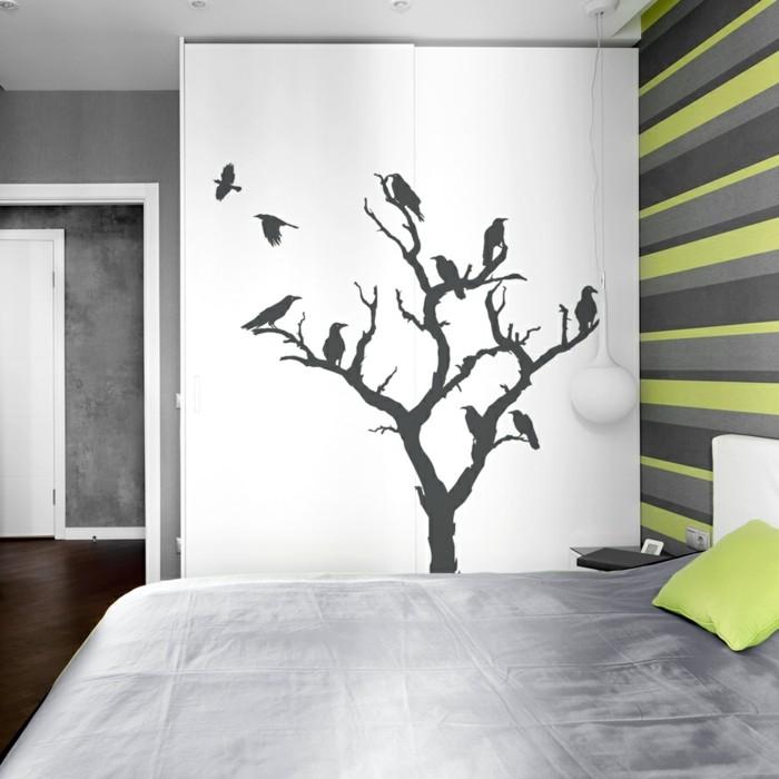 schöne wandtattoos baum wohnideen schlafzimmer