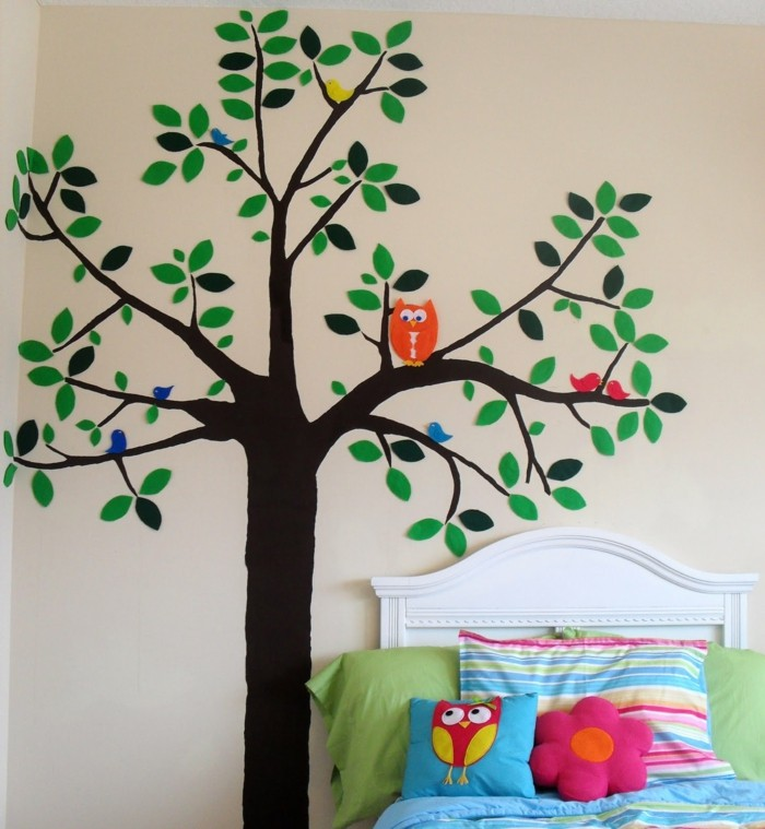 Schöne Wandtattoos Dekoideen Kinderzimmer Baum