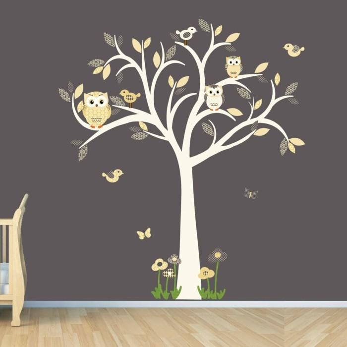 35 wandtattoos baum die einen hauch natur nach hause bringen. Black Bedroom Furniture Sets. Home Design Ideas