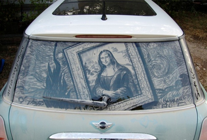 schmutzige autos kunst street art