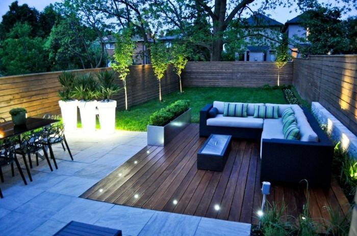 solar gartenbeleuchtung gartenbereiche leuchtende pflanzenbehälter