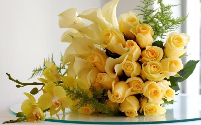 strauss gelbe rosen bedeutung