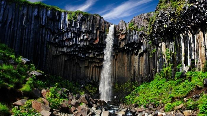 svartifoss wasserfall island