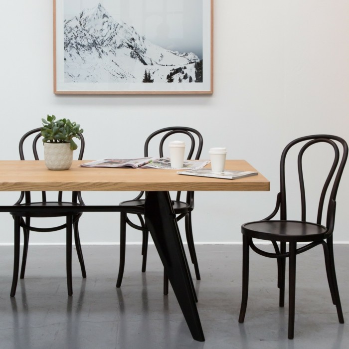 thonet stühle design klassiker esstisch holz
