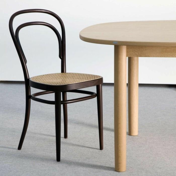 thonet stühle designklassiker wiener stil esstisch buchholz mid century