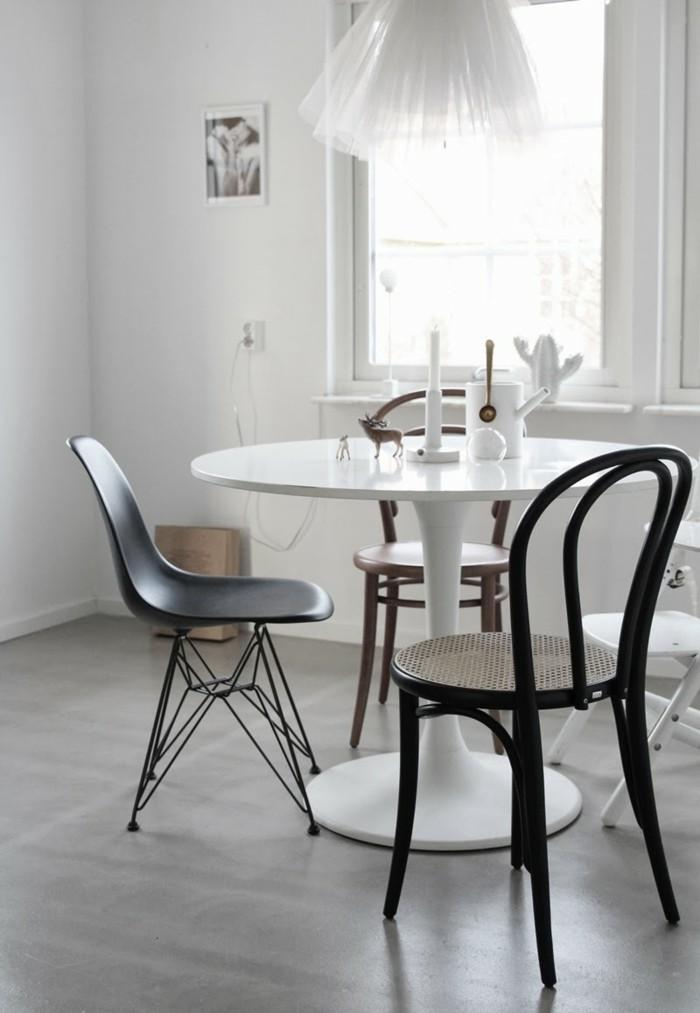 thonet stühle kücheneinrichtung runder esstisch plastik skandinavisches wohnen