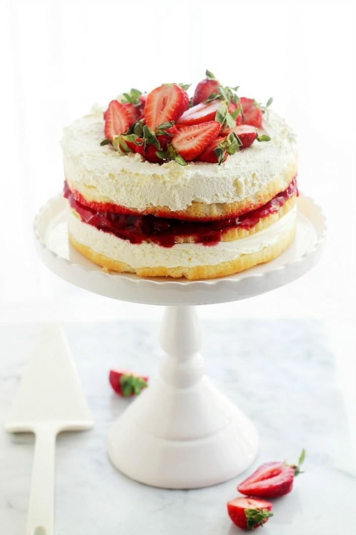 torte dekorieren früchte erdbeeren