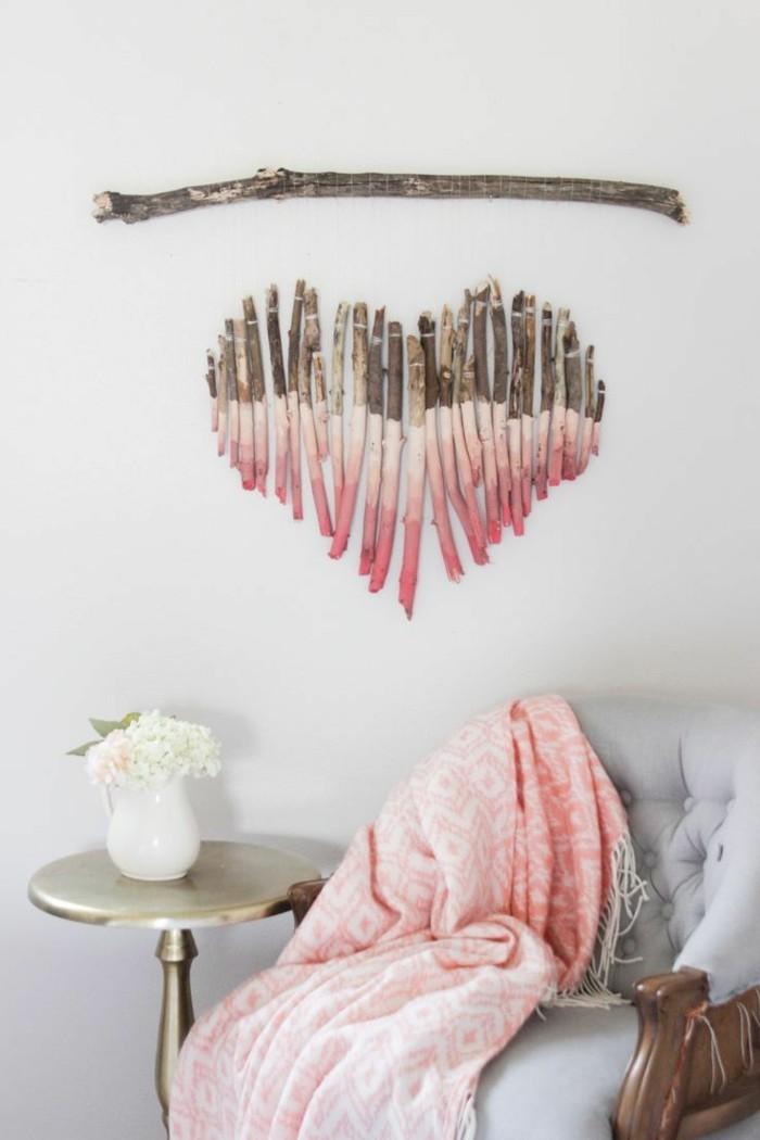 valentinstag ideen herz dekoideen rustikal diy