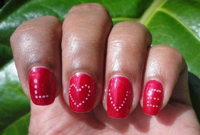 valentinstag ideen nagellack rot botschaft