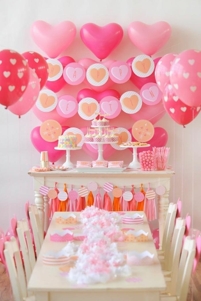 valentinstag ideen wanddeko ballons herzen