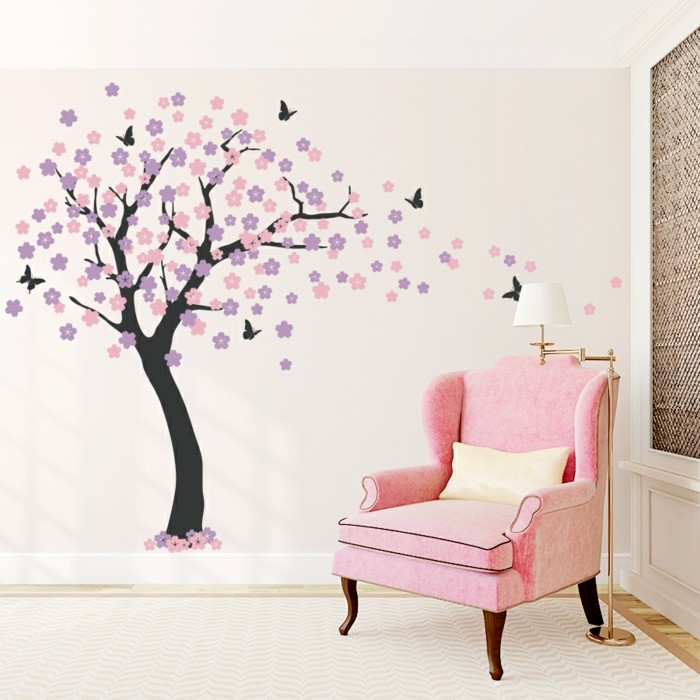 wandtattoo kinderzimmer baum baum wandtattoo im. Black Bedroom Furniture Sets. Home Design Ideas