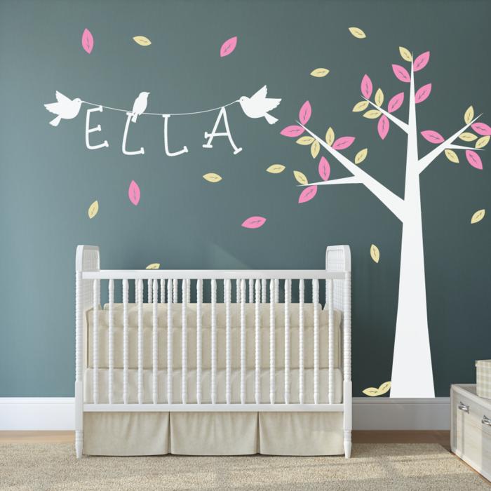 wandtattoos baum kreatives wanddesign babyzimmer