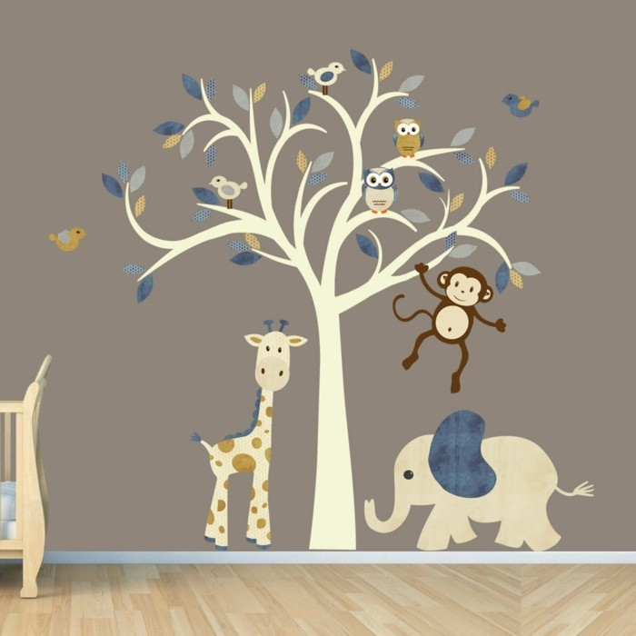 wandtattoo kinderzimmer baum tiere reuniecollegenoetsele. Black Bedroom Furniture Sets. Home Design Ideas