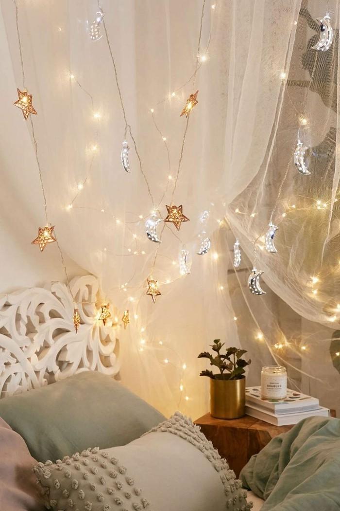 led lichterkette sorgt f r eine verlockende atmosph re. Black Bedroom Furniture Sets. Home Design Ideas