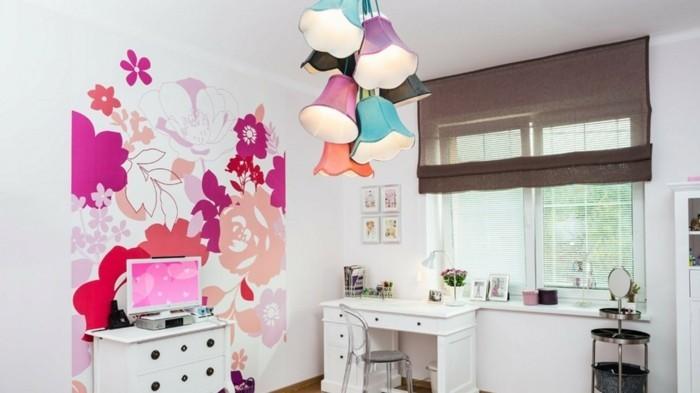 zimmer deko diy jugendzimmer dekoideen schöne akzentwand cooler leuchter