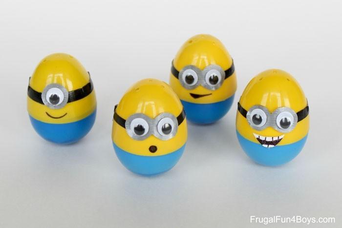 Eier Gesichter malen kreativ wettbewerb die minions