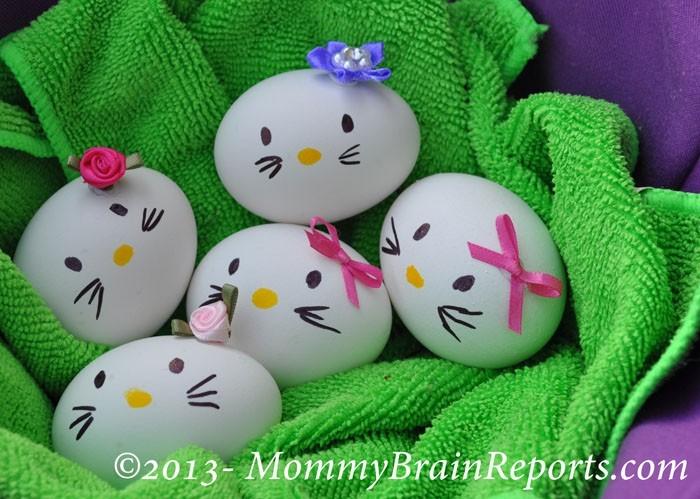 Eier Gesichter malen kreativ wettbewerb die ostereier gestalten hello kittie