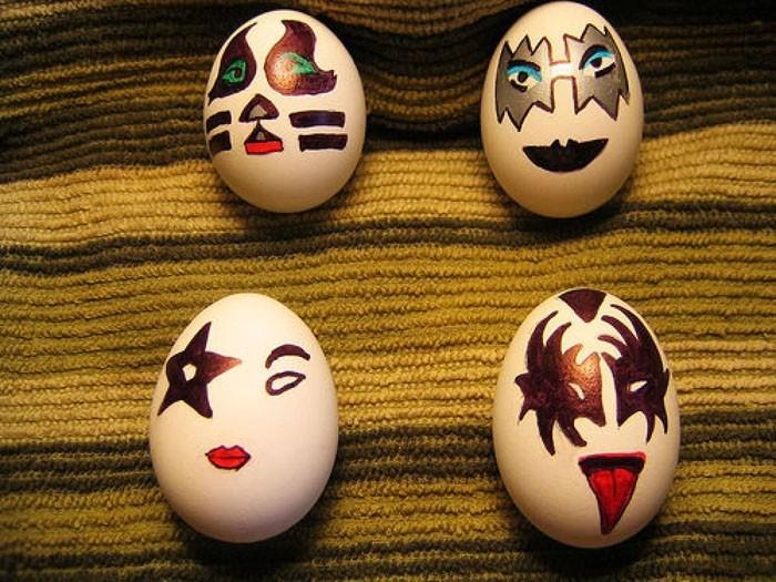 Eier Gesichter malen kreativ wettbewerb die ostereier gestalten kiss