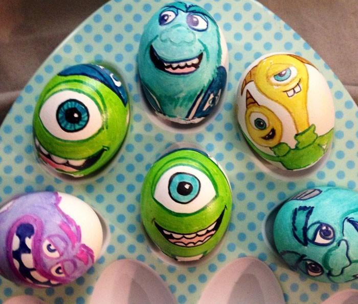 Eier Gesichter malen kreativ wettbewerb die ostereier gestalten monster ag