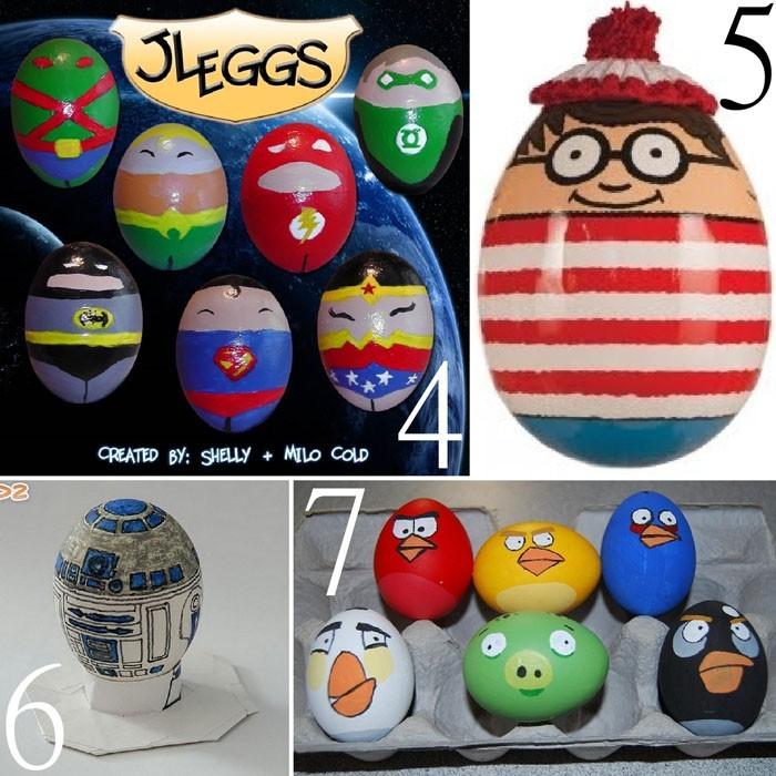 Eier Gesichter malen kreativ wettbewerb fimfiguren