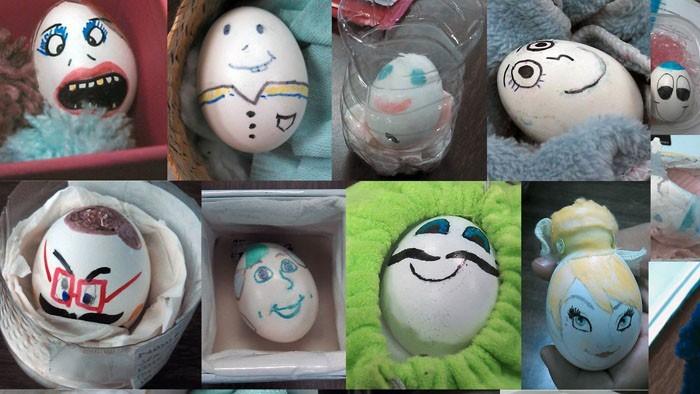Eier Gesichter malen kreativ wettbewerb ostereiere gestalten sta wars figuren geegs