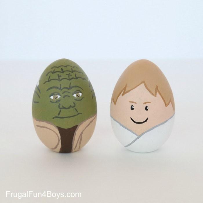 Eier Gesichter malen kreativ wettbewerb ostereiere gestalten sta wars figuren