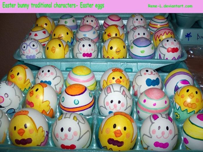 Eier Gesichter malen ostereier gestalten eier mit gesichter malen osterdeko selber machen coole ideen