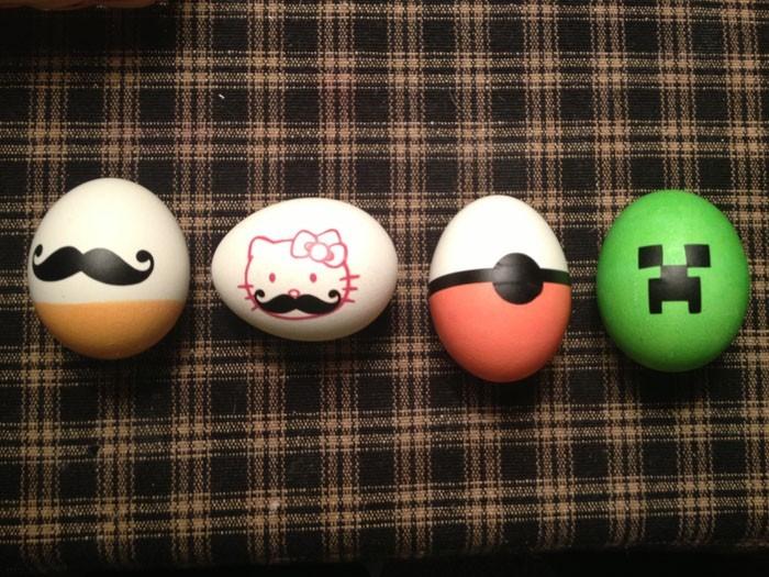 Eier Gesichter malen ostereier gestalten eier mit gesichter malen osterdeko selber machen diy ideen
