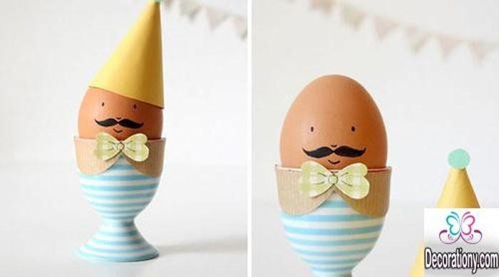 Eier Gesichter malen ostereier gestalten eier mit gesichter malen osterdeko selber machen eierbecher