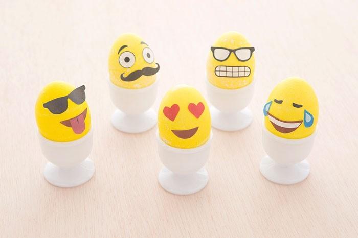 Eier Gesichter malen ostereier gestalten eier mit gesichter malen osterdeko selber machen emotikons