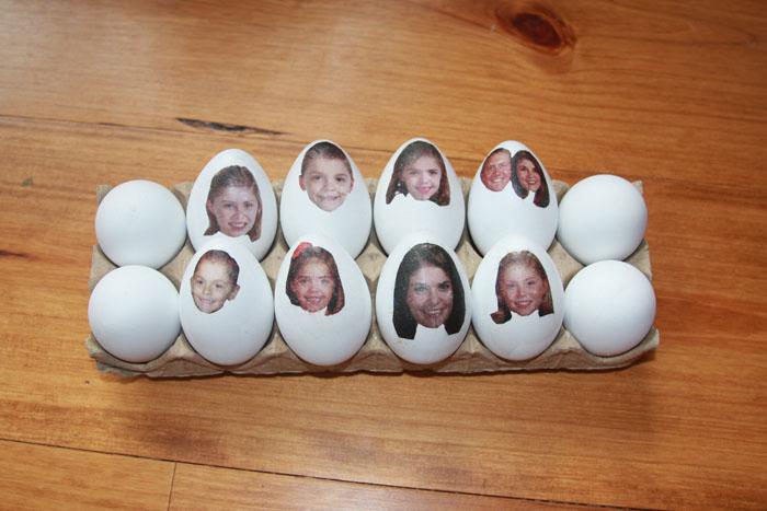 Eier Gesichter malen ostereier gestalten eier mit gesichter malen osterdeko selber machen familienfotos als aufkleber