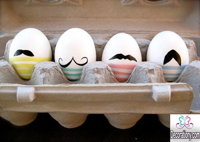 Eier Gesichter malen ostereier gestalten eier mit gesichter malen osterdeko selber machen moustache