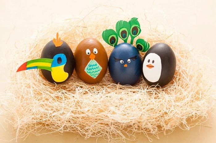 Eier Gesichter malen ostereier gestalten eier mit gesichter malen osterdeko selber machen süß