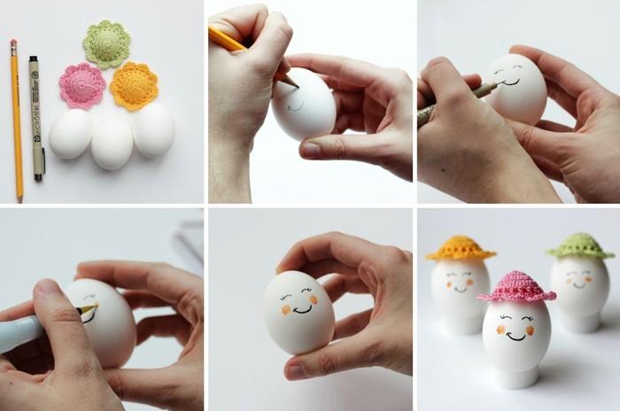 Eier Gesichter malen ostereier gestalten eier mit gesichter malen osterdeko selber machen