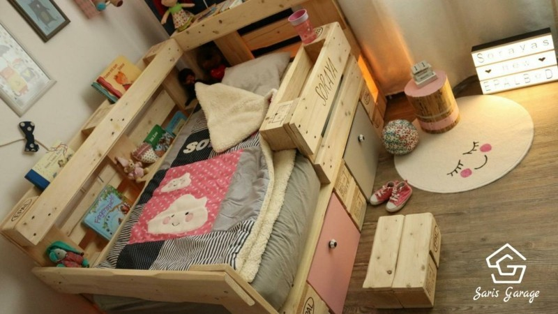 Kinderbett aus Europaletten DIY- Saris Garage (4)