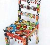 Stühle Bemalen 42 upcycling ideen wie alte stühle dekorieren und bemalen kann