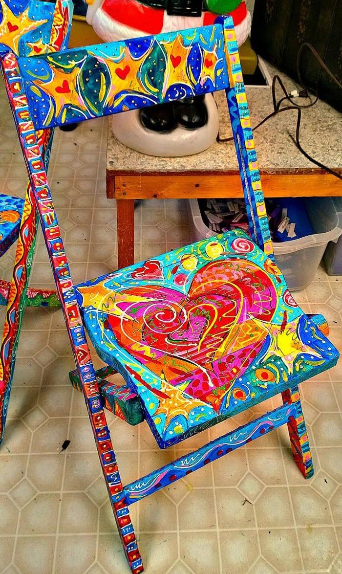 alte stuehle dekorieren alte moebel aufpeppen upcycling ideen diy ideen deko ideen bastelideen 40