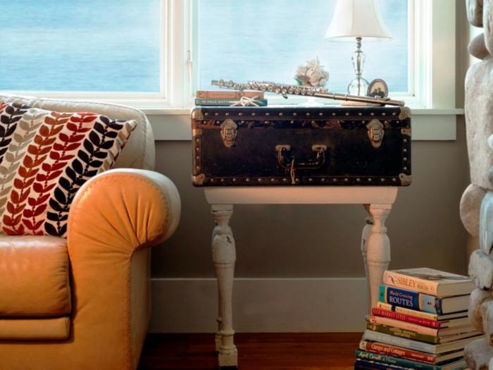 alter koffer als beistelltisch benutzen upcycling idee