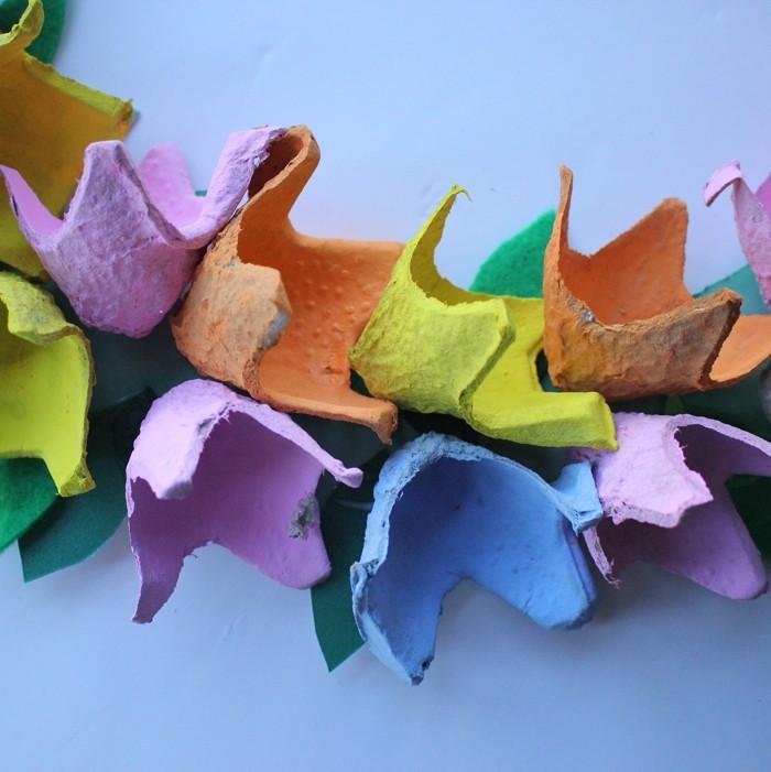 basteln mit eierkartons osterdek oideen diy ideen recycling nachhaltig leben upcycling ideen bunte blumen