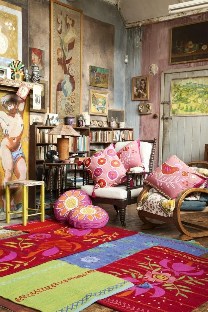 inneneinrichtung im boho stil l sst neue formen und farbkombinationen entstehen. Black Bedroom Furniture Sets. Home Design Ideas