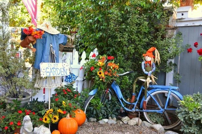 das fahrrad in den garten integrieren