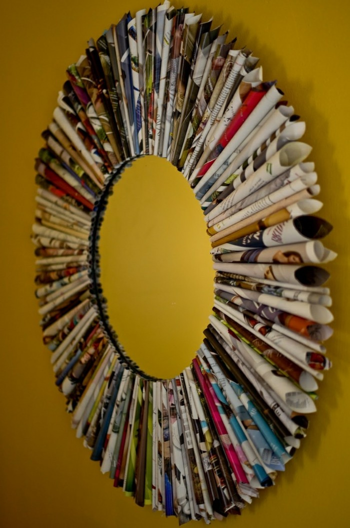 deko-ideen-selbermachen-spiegelrahmen-bastelideen-papier