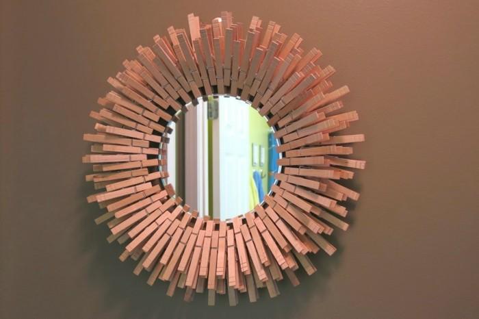 deko-ideen-selbermachen-wäscheklammern-spiegelrahmen