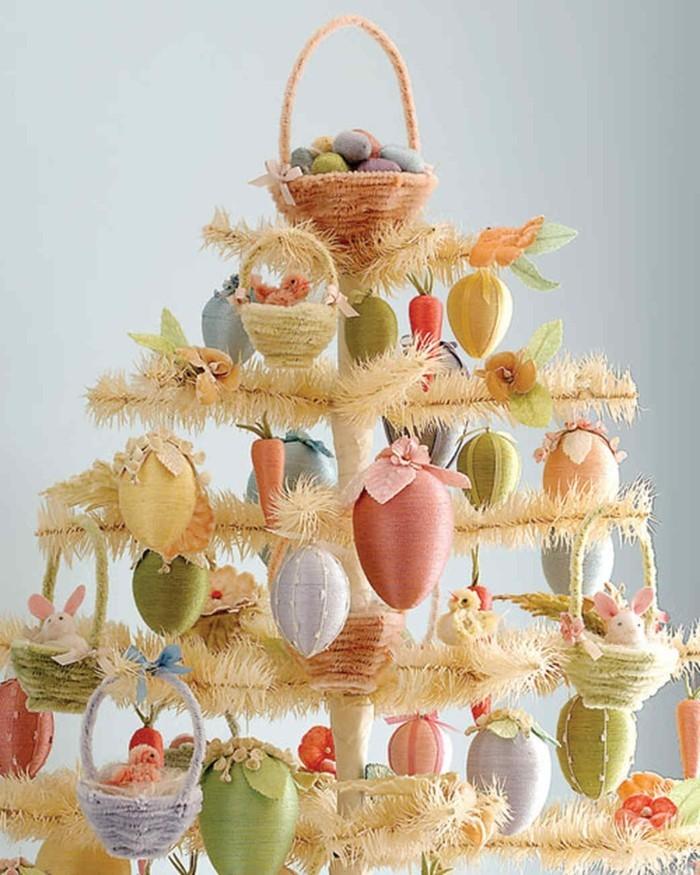 dekorativer oserbaum mit kuecken