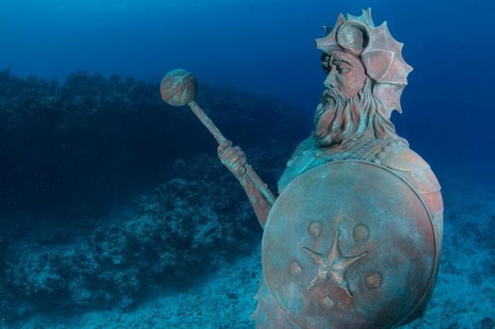 der waechter des reefs bewacht Meeresboden