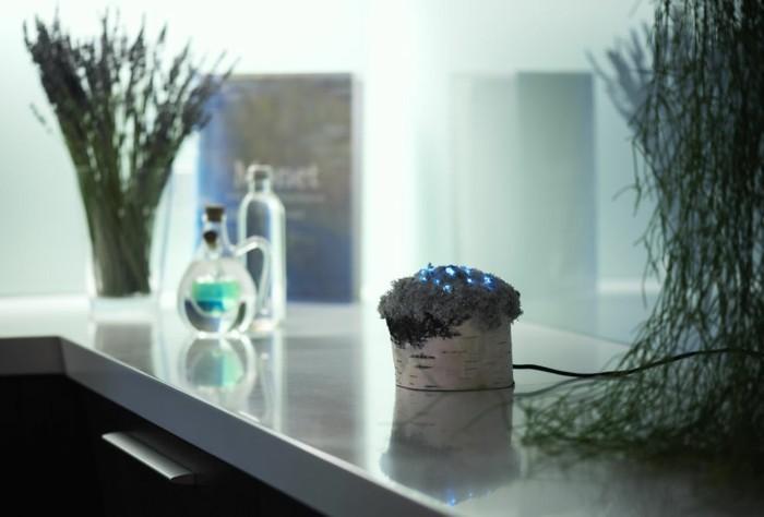 designer lampen leuchtende kristalle tischlampe