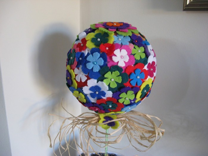 diy deko ideen aus stoff deko stoff dekorrieren mit filz stoff ideen deko ball