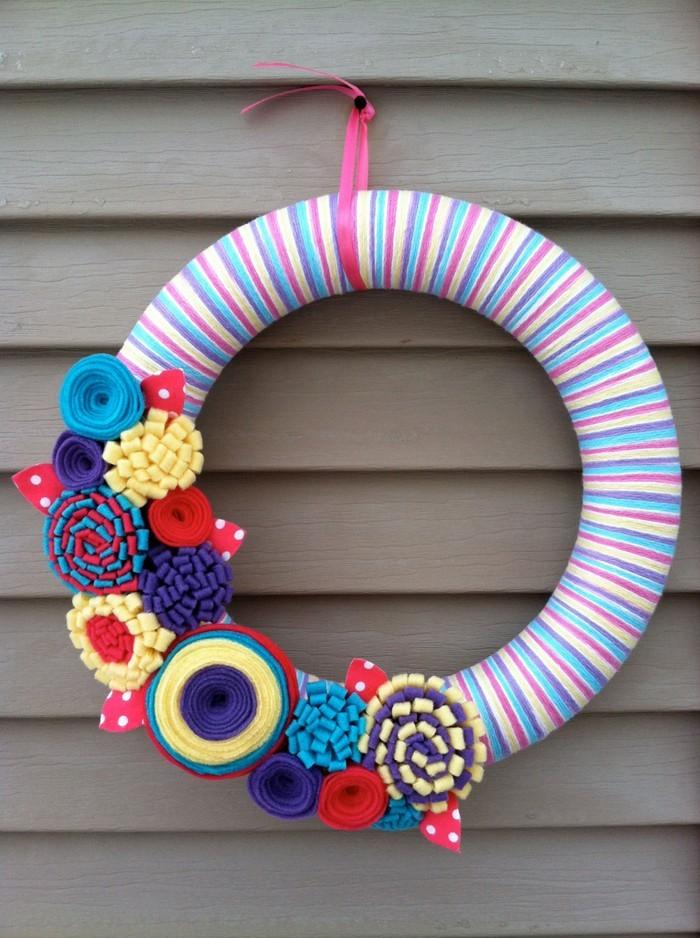 diy deko ideen aus stoff deko stoff dekorrieren mit filz stoff ideen kranz